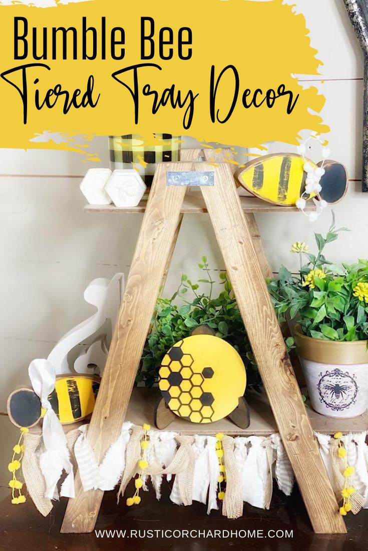 Créez votre propre décor de plateau à plusieurs niveaux Bumble Bee!  Facile, économique et super mignon!